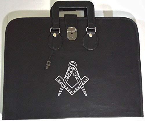 Masonic Regalia Square Compass Logo Apron & Chain Collar Case Deluxe Combination