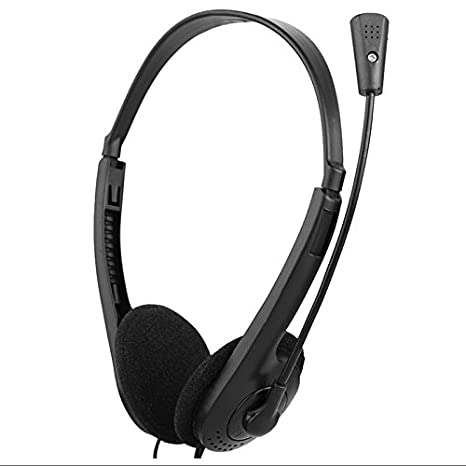 MENGZHEN 3.5mm Over-Ear Headphones Stereo Lightweight Adjustable Wired Headset with Mic for Computer Laptop Desktop