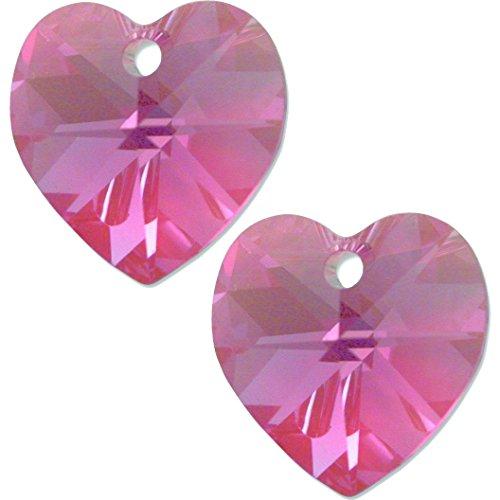 Crystal Heart Pendant 6202 14mm (6202 Swarovski Heart Pendant Beads)