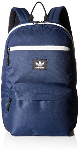 adidas Originals National Padded Backpack, Collegiate Navy/Chalk White, One Size (Basic Chalk Bag)