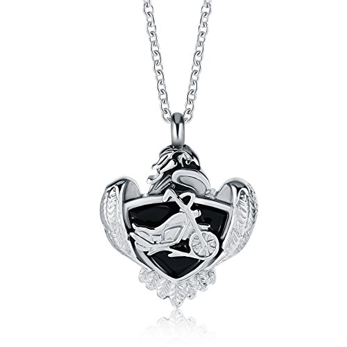 motorcycle urn necklace - 7