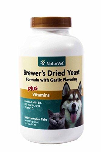 NaturVet Brewer's Yeast & Garlic Tablets, 500 Count
