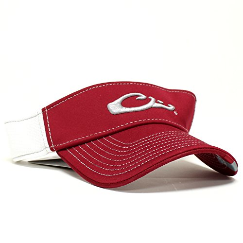 Game Day Visor (Drake Waterfowl Game Day Fitted Visor Alabama Red and White M/L)