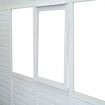 norfolk greenhouses bcwiuw2550 ultimate sunroom window kit white