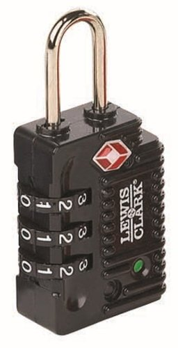 Lewis N. Clark TSA  Indicator ? 3 Dial Combination Lock, Black by Lewis N. Clark