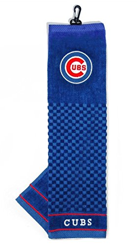 Chicago Cubs 16x22 Embroidered Golf Towel - Licensed MLB Baseball Merchandise (Chicago Towel Golf Cubs)