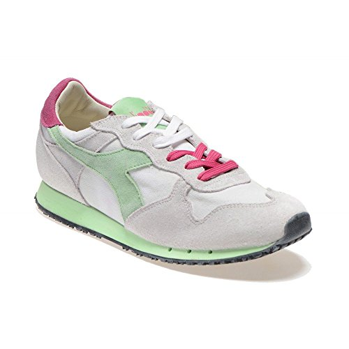 Diadora Heritage - Trident W SW Low Bianco/Verde Paradiso - Sneakers Mujer