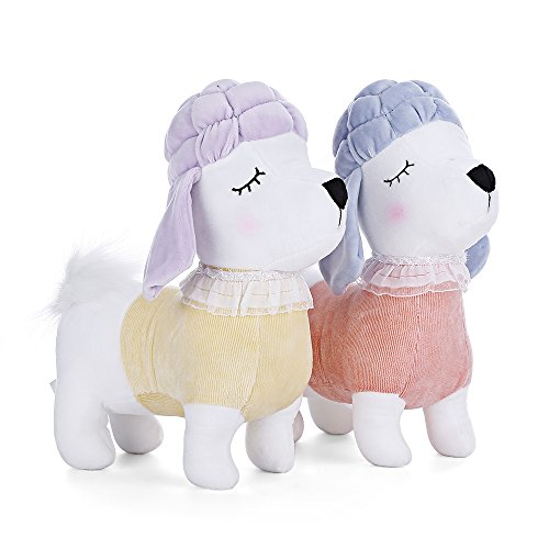 MeToo Zodiac Dog Plush Toy Puppy Doll Gifts (Pack of 2) (Yellow/Orange)
