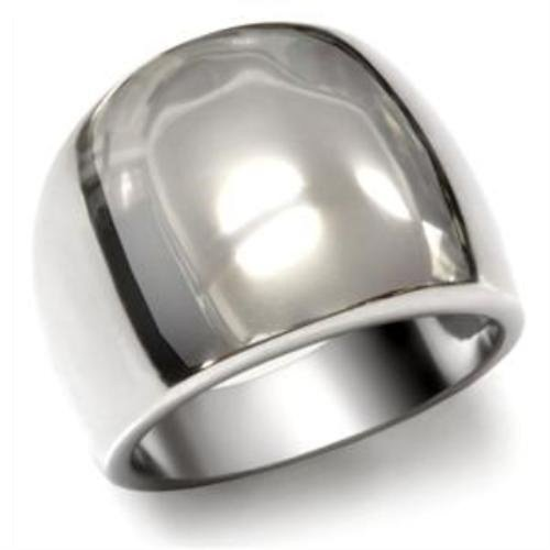 Stainless Steel Wide Polished Band Ring, Size 8 (Wide Band Ring Polished)
