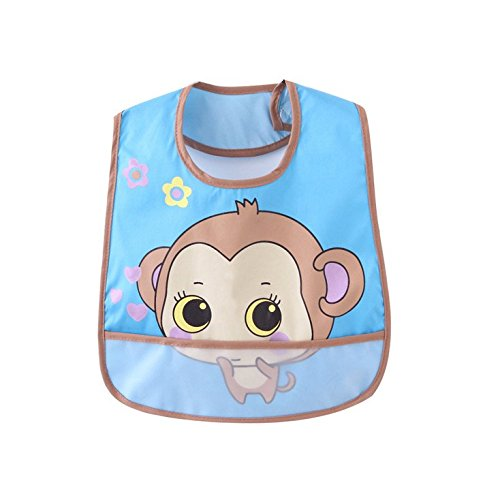 Price comparison product image Children Bib waterproof cartoon printed articles pocket baby napkins rice slobber 0-3years old baby (A)