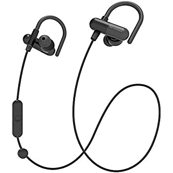 TaoTronics Bluetooth Headphones, Wireless In-Ear Earbuds Sports Earphones with Bulit in Mic (Secure Ear Hooks Design, 8 Hours Play Time)