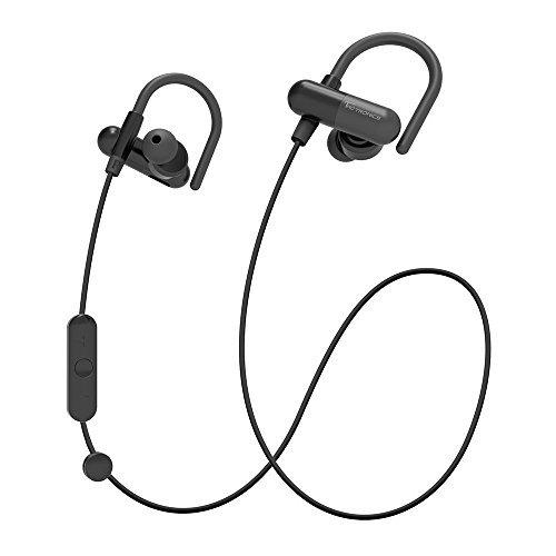 TaoTronics Bluetooth Headphones, Wireless In-Ear Earbuds Sports Earphones with Bulit in Mic (Secure Ear Hooks Design, 8 Hours Play Time)