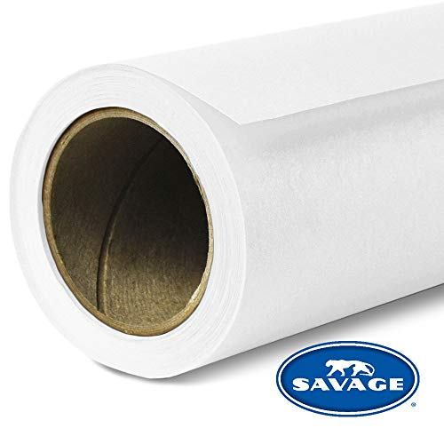 Savage Seamless Background Paper - #1 Super White (107 in x 36 ft) (Best Stock For Savage 10)