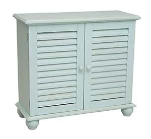 Cape Craftsman Shutter 2-Door Cabinet, Light Blue
