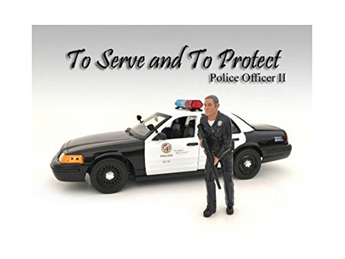 American Diorama 24032 Police Officer II Figure for 1-24 Scale Models by American Diorama