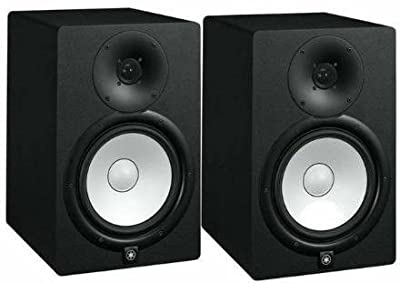Yamaha HS8 Powered Studio Monitor Pair with XLR-Cables Insolation Monitor PAD and Speaker Stands from YAMAHA