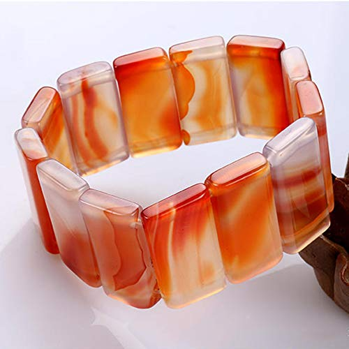 KALRTO Natural Brazilian Red Agate Bracelet, Men and Women Lucky Lucky Hand Shift, Jade Crafts, Gifts