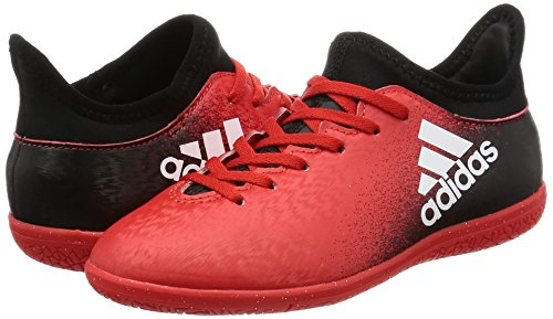 Adidas x 16.3 in J – Chaussures montantes de fútbolpara enfants, rouge – (Rouge/Ftwbla/negbas), -28