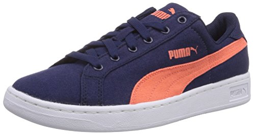 Cv Basses nasturtium Smash mixte 01 Puma Bleu Jr Peacoat Blau enfant Baskets vIfWq5