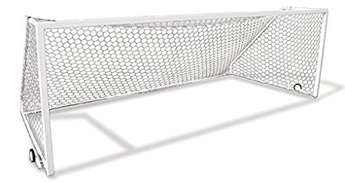 - First Team Golden Goal 44 Mini-PM 9 x 4.5 ft. Permanent Aluminum Soccer Goal44; White
