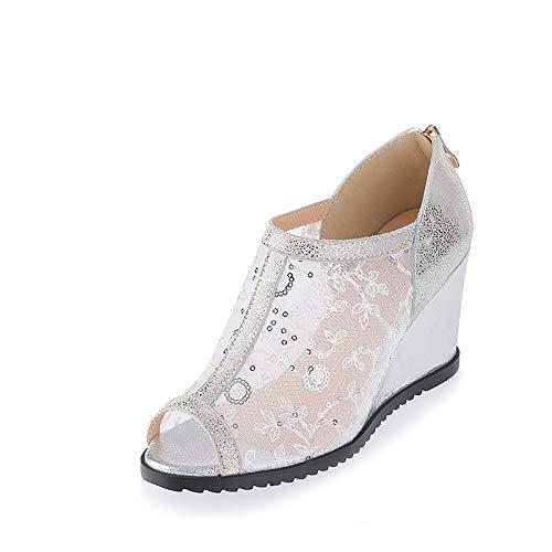 MENGLTX MENGLTX MENGLTX High Heels Sandalen 2019 Frauen Pumpt Air Mesh  Echtes Leder Schuhe Frau Peep Toe Elegante Keile Schuhe Frau Kleid Schuhe B07QLRF3L5 Sport- & Outdoorschuhe Zuverlässige Qualität ced5d5