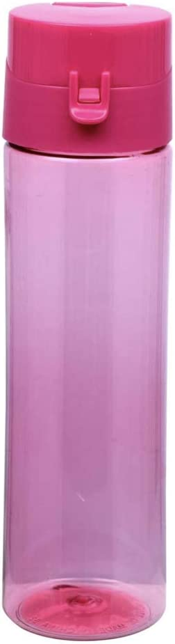22 oz Cylinder Shaped Plastic Water Bottles with Flip Top Lids BPA Free.