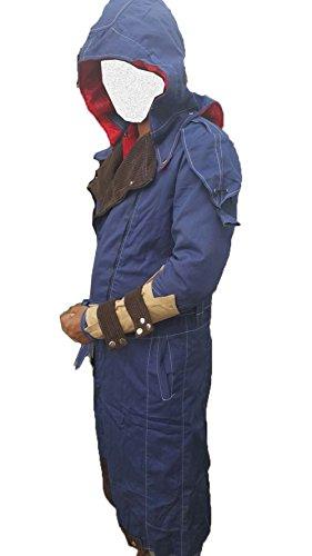 Assassin's Creed Unity Arno Dorian Denim Cloak Costume Jacket Blue (Small)]()