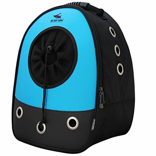 Okbuynow Sac à dos tout Confort pour chiens et chats jusqu'à 15kilos, pour aller faire une promenade, randonnée pédestre et cyclisme (bleu)