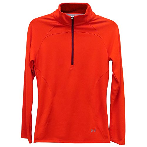 - Under Armour Women Slice 1/4 Zip Mock Golf Pullover Mango X-Large