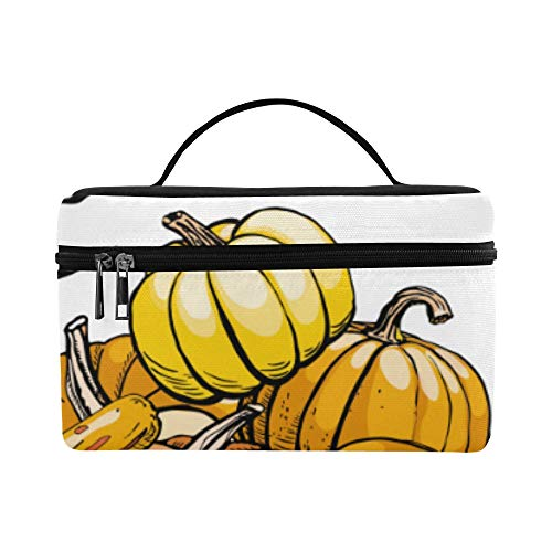 Hand-painted Pumpkin Painting Pattern Lunch Box Tote Bag Lunch Holder Insulated Lunch Cooler Bag For Women/men/picnic/boating/beach/fishing/school/work