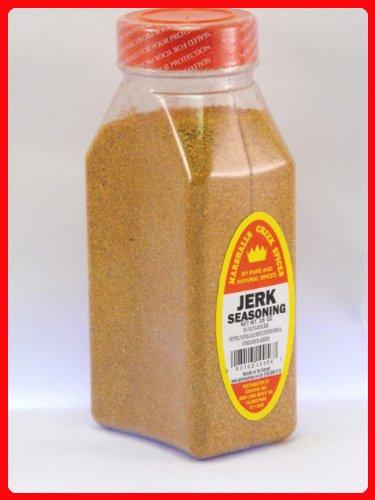 JERK SEASONING FRESHLY PACKED IN LARGE JARS, spices, herbs, seasonings