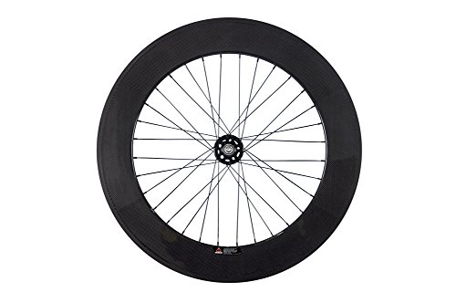 Queen Bike 88mm Fixed Gear Wheel Carbon Fixed Wheelset Clincher 700c Rear for Fixed Bike (Wheel Clincher Rear)