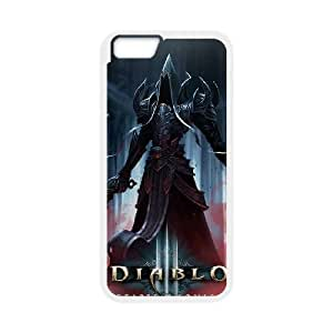 Diablo III iPhone 6 Plus 5.5 Inch Cell Phone Case White custom made pgy007-9971595