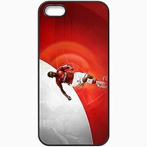 Personalized iPhone 5 5S Cell phone Case/Cover Skin Arseblog Theo Walcott English Premier League 0809 UEFA Samir Nasri Theo Walcott Carlos Alberto Vela Arsenal Football Black