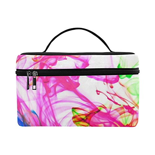 Watercolor Paint Monotype Art Pattern Water Hd Wal Pattern Lunch Box Tote Bag Lunch Holder Insulated Lunch Cooler Bag For Women/men/picnic/boating/beach/fishing/school/work
