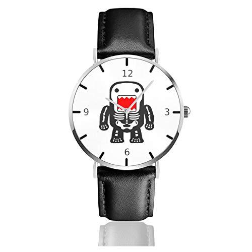 - Men's Fashion Minimalist Wrist Watch Funny Cool Domo-kun Skeleton Leather Strap Watch