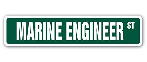 MARINE ENGINEER Street Sign maritime vessel ships boats underwater   Indoor/Outdoor   18