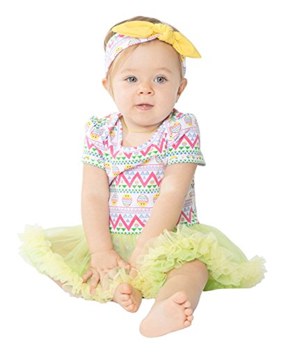 Baby Girls Easter Day Party Outfits Tutu Dress Headband Set (S (0-3 months), Easter Eggs) (Valentines Outfits For Baby Girls)