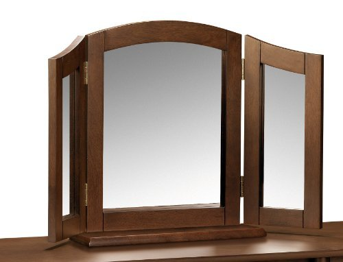 Julian Bowen Minuet Triple Mirror, Dark Wood by Julian Bowen by Julian Bowen