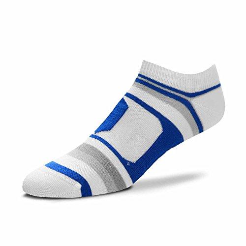 Devil Shoe - For Bare Feet Duke Blue Devils Adult NCAA Lotta Stripe Socks - Team Color, Large