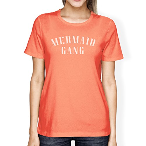 Camiseta para de Mermaid mujer 365 Printing Camiseta de sirena Peach Gang manga corta xqanxgfH