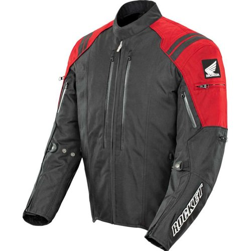 (Honda Joe Rocket CBR Men's Textile Street Racing Motorcycle Jacket - Red/Black/Medium)