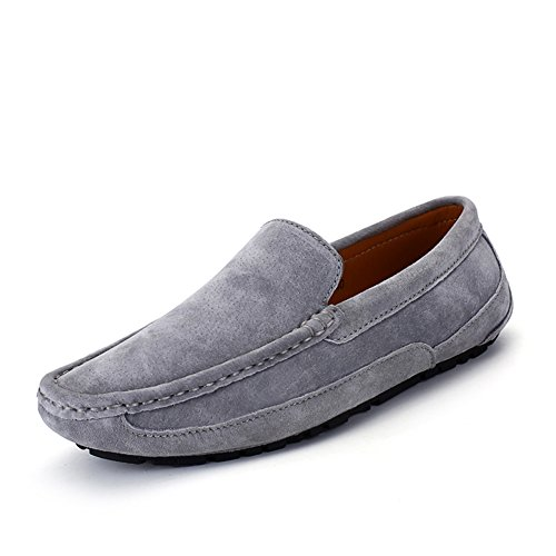 Go Tour Mens Fashion Driving Mocassini Casual Scarpe Da Barca Grigie