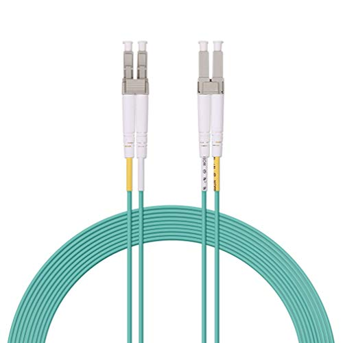 Fiber Patch Cable - LC to LC OM3 10Gb/Gigabit Multi-Mode Duplex 50/125 LSZH Fiber Optic Cord for SFP Transceiver, Computer Fiber Networks and Fiber Test Equipment, 15-Meter(49ft)