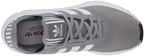 adidas Originals Men's Swift Essential Sneaker, Grey/White/Black, 3.5