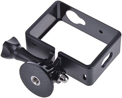 Black VKeyueDa VKeyueDa XM16 Standard Protective Frame Mount Housing with Assorted Mounting Hardware for Xiaomi Yi Sport Camera Color : Black