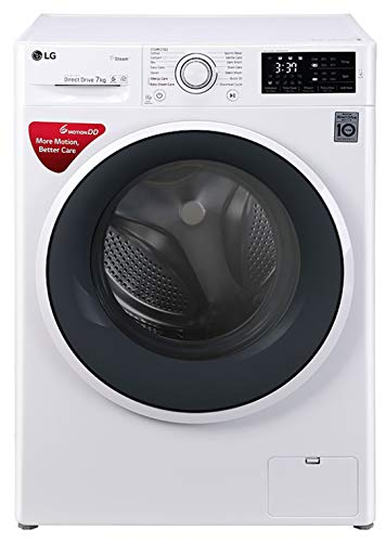 LG 7 kg Inverter Fully Automatic Front Loading Washing Machine  FHT1007SNW.ABWPEIL, Blue and White, Inbuilt Heater