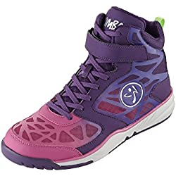 Zumba Women's Energy Rush Dance Shoe, Purple/Dark Purple, 5 M US