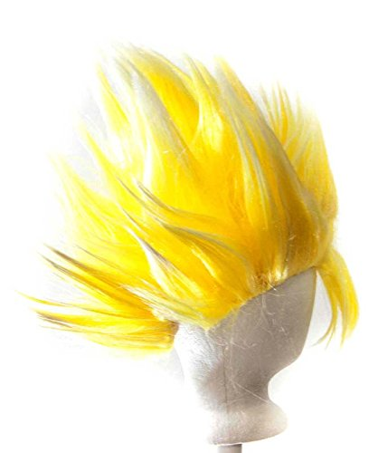 Goku - Sunshine Yellow Prestyled Spiky Wig. Longest Spike is 7'' Long (Spiky Blonde Wig)