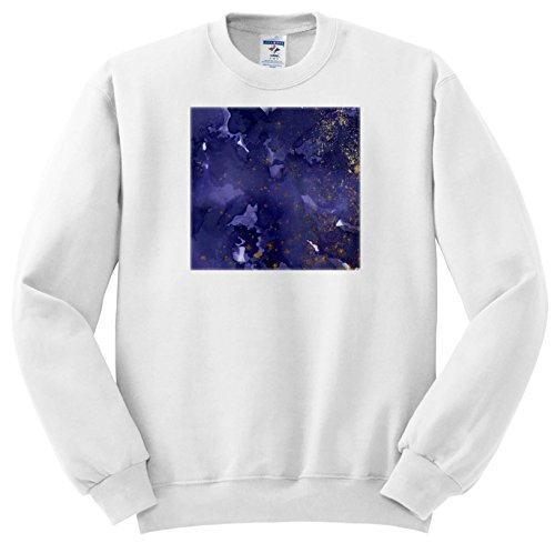 (Anne Marie Baugh - Abstract - Blue Watercolor Wash with Faux Gold Flecks - Sweatshirts - Adult Sweatshirt Small (ss_282968_1))